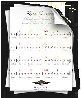 Songsheets for learning kirtan songs on harmonium