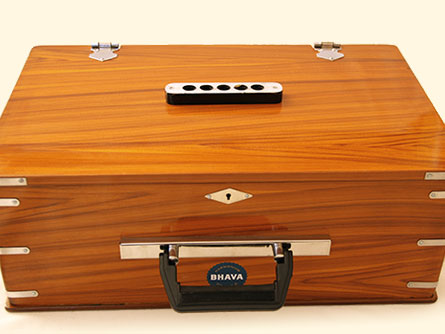Bhava Mini Harmonium with Natural Finish